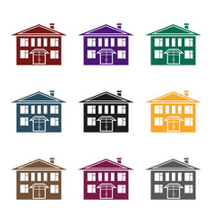 house icon in black style isolated on white vector image vector image