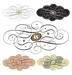 calligraphic swirl set vector image