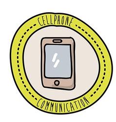 cellphone design vector image