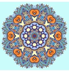 circle decorative spiritual indian symbol of lotus vector image
