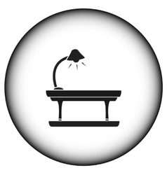 round icon with table lamp vector image