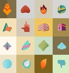 set Logo Design Elements Collection vector image