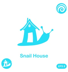 Snail with house - home sale concept vector image vector image