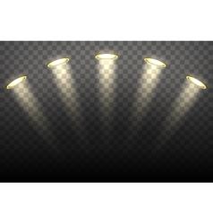 Spot lights on transparent background vector image vector image