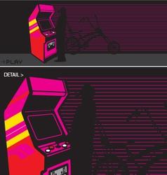 arcade video game vector image