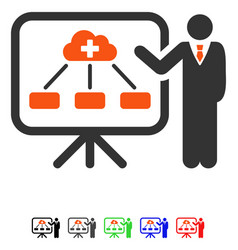 Health care system report flat icon vector