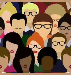seamless pattern background crowd vector image