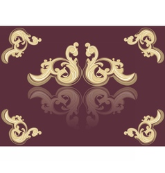 Vintage Acanthus red ornament vector image vector image