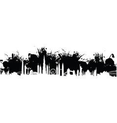 cityscape splash background vector image vector image