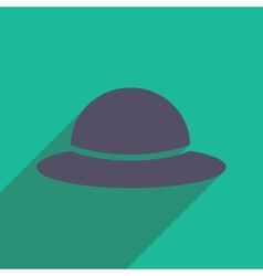 Flat icon with long shadow womens hat vector
