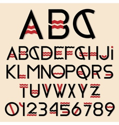 font and numbers vector image