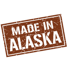 made in alaska stamp vector image vector image