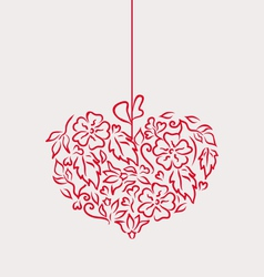 Ornamental heart in hand drawn style for Valentine vector image vector image