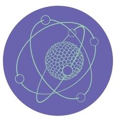 Outline atom nucleus vector