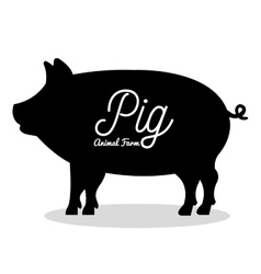 pig animal farm icon vector image