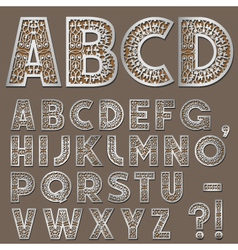 silver swirly alphabet vector image vector image