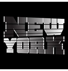 T shirt New York vector image vector image