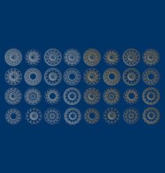 Arabesque design 3d ramadan arabic round golden vector