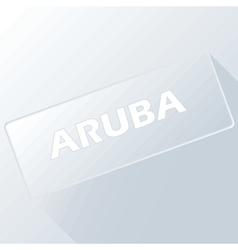 Aruba unique button vector