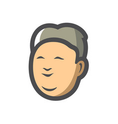 asian man simple icon cartoon vector image