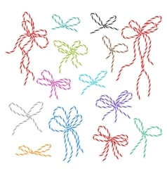 Bakers twine bows set vector