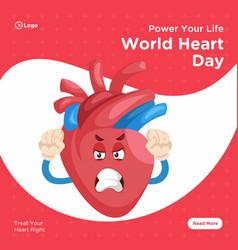 Banner design of world heart day vector