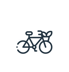Bike icon isolated on white background outline vector