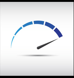 Blue tachometer speedometer icon performance vector