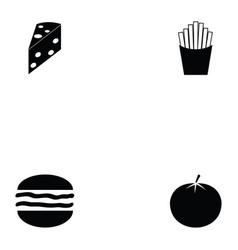 burger icon set vector image