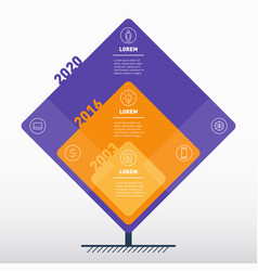 business presentation concept or time line with 3 vector image