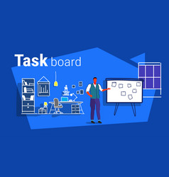 Businessman planning weekly meeting schedule on vector
