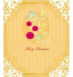 Christmas bird with decorative balls vector image
