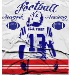 College football graphics for t-shirt graphics vector