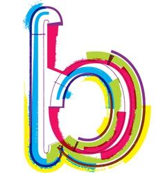 Colorful Grunge font Letter b vector