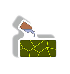 Cracked earth and bottle of water drought vector