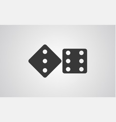 dice icon sign symbol vector image