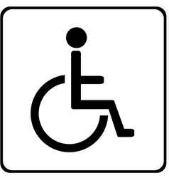 Disabled handicap sign vector image vector image