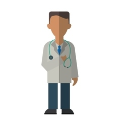 doctor healthcare professional clinic stethoscope vector image