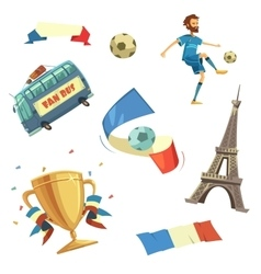 Euro 2016 football set vector image