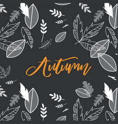 fall autumn season with vector image