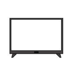 flat screen tv icon image vector image