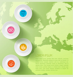 global business infographic template vector image