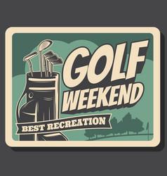 Golf club tournament leisure sport club vector