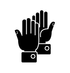 hands clapping icon black vector image