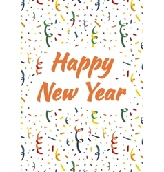Happy New Year cover with exploding party popper vector image