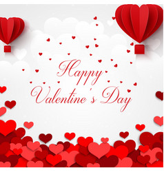 Happy valentines day greetings card with realistic vector