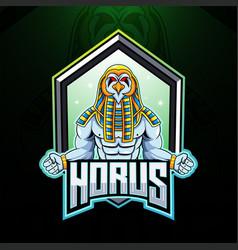 Horus esport mascot logo design vector
