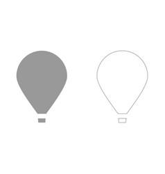 Hot air balloon set icon vector