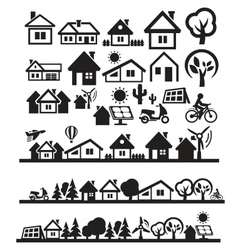 houses icons vector image