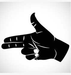 Icon hand sign pistel vector